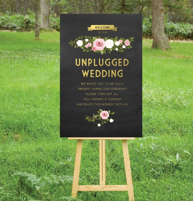 The best 20 wedding aisle signs ever beautiful unplugged wedding sign junglespirit Choice Image