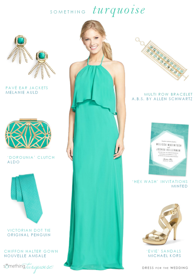 Turquoise Evening Wear for Weddings