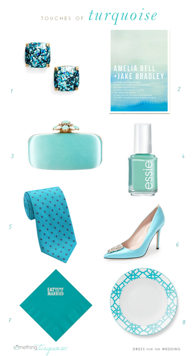 Turquoise Wedding Style Ideas | Dress for the Wedding