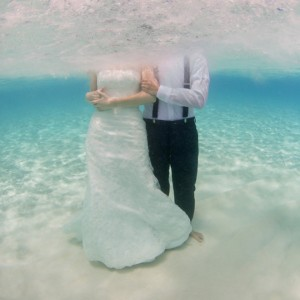Stunning underwater trash the dress by Stu & Malia: Photographers