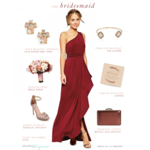 Bridesmaid look for fall wedding by blogger Dress for the Weddingon Something Turquoise