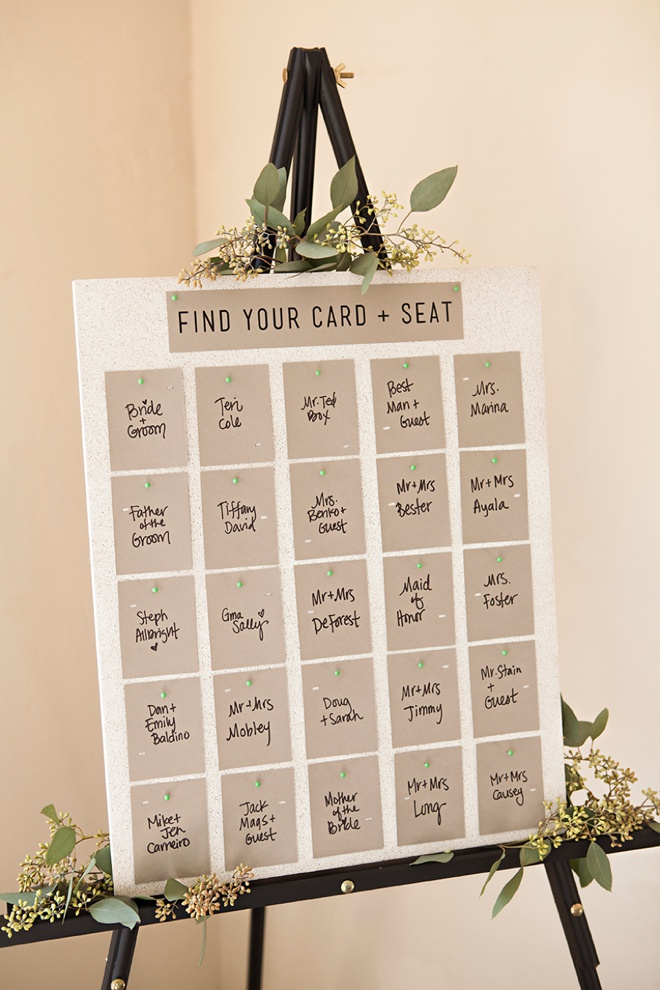 Unique and easy printed and punched diy escort cards awesome idea for diy escort cards free design printable solutioingenieria Images