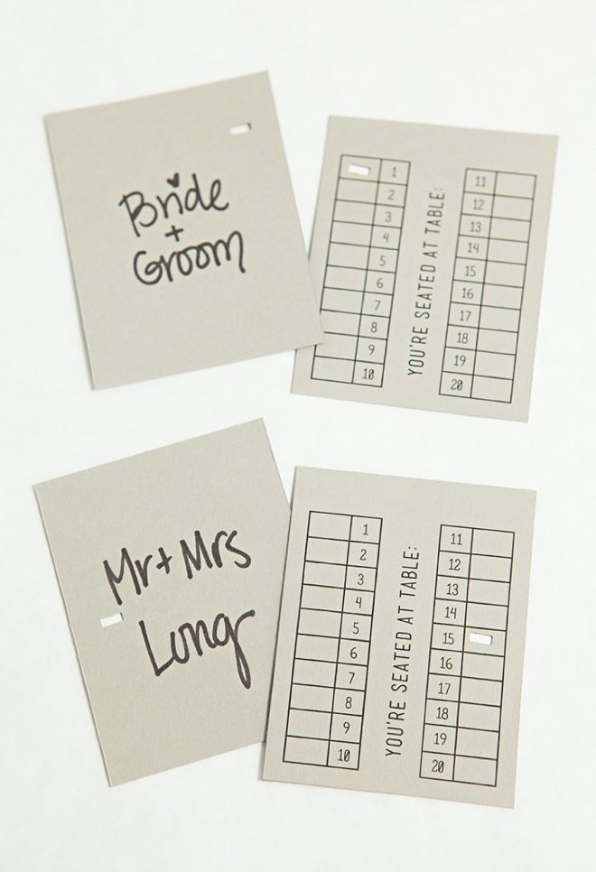 Awesome idea for DIY escort cards that you
