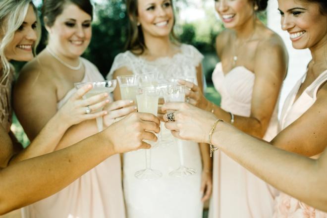 Bridesmaids toast!