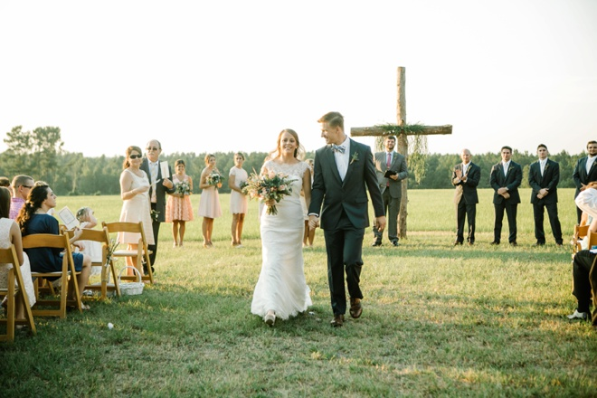 Beautiful, eco-friendly handmade backyard wedding!