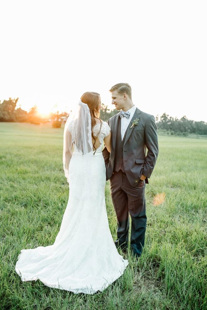 Gorgeous sunset bridal portraits