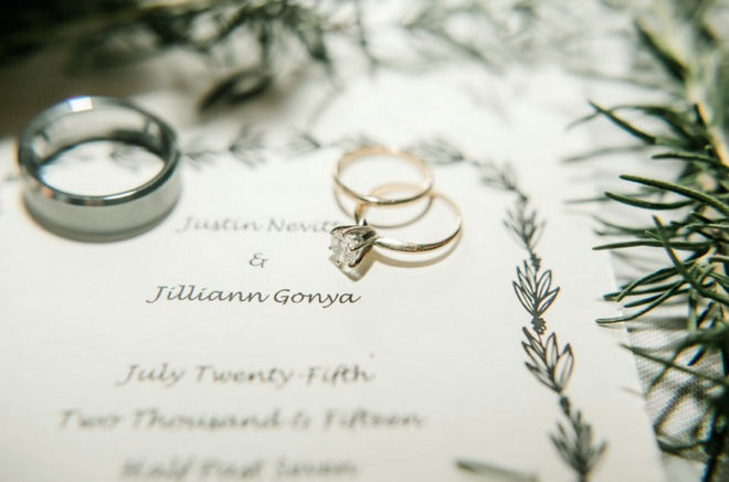 Wedding Rings + Wedding Program