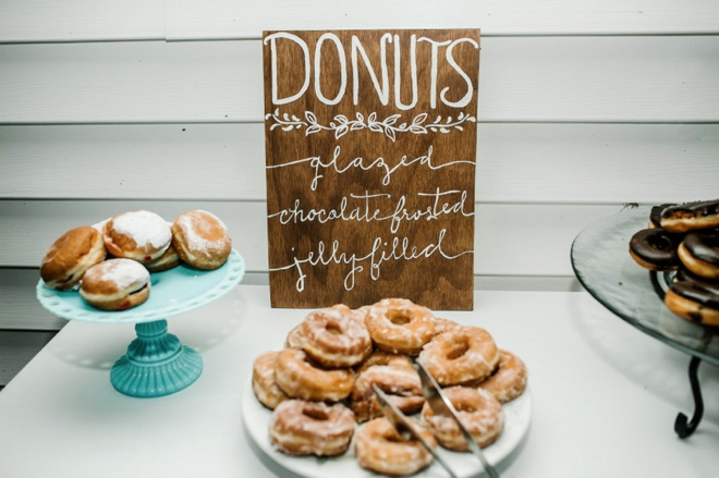 Donut Bar at a wedding!