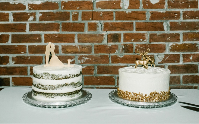 Brides cake and Grooms cake