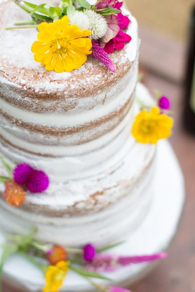 Beautiful naked wedding cake