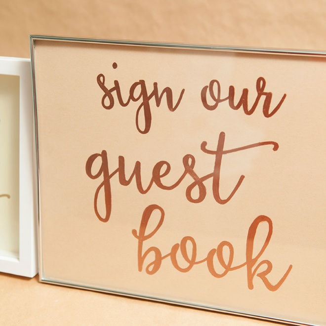 DIY sign our guest book wedding sign.