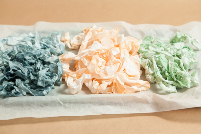 How to rip and ink dye your own muslin ribbon!