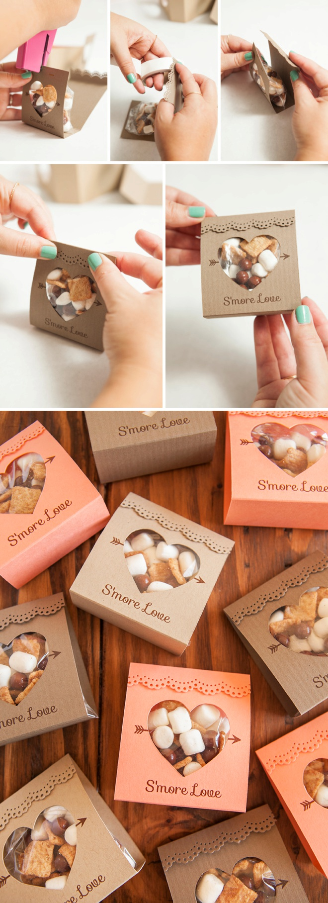 How to make these adorable smore love wedding favors adorable idea for smores wedding favors so unique free design too junglespirit Choice Image