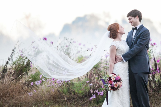 Lovely fall DIY wedding in gorgeous shades of purple!
