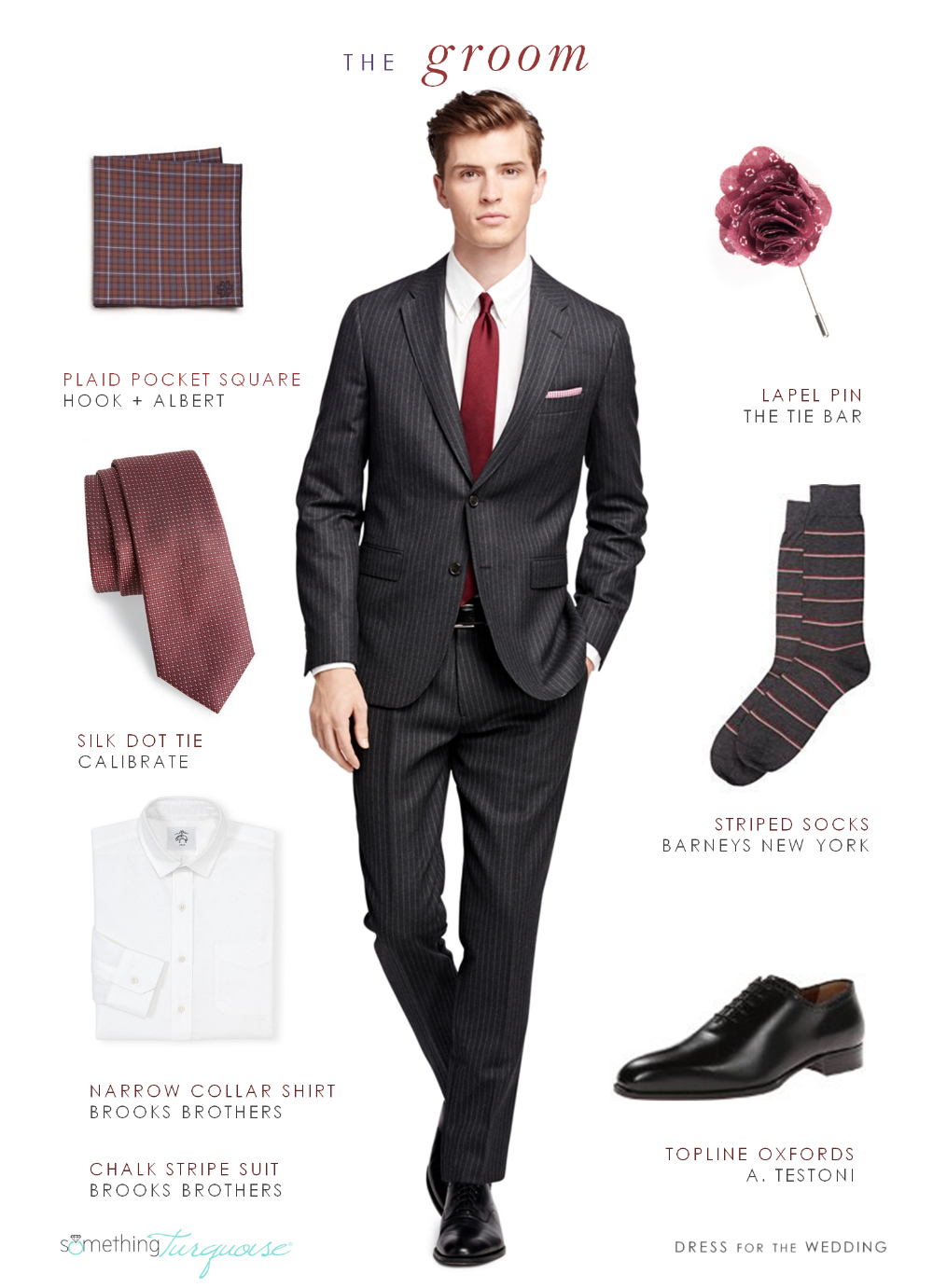 Grooms style for fall |Created by Dress for the Wedding for Something Turquoise