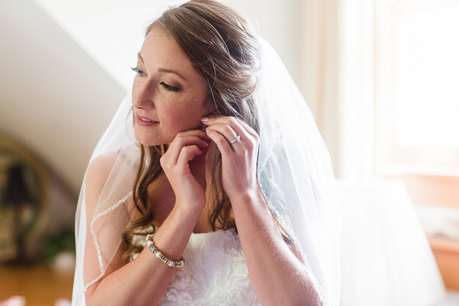 Gorgeous Bride Getting Wedding Ready Shot-Rustic-Wedding!