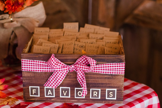 We Love These DIY Seed Packet Wedding Favors!