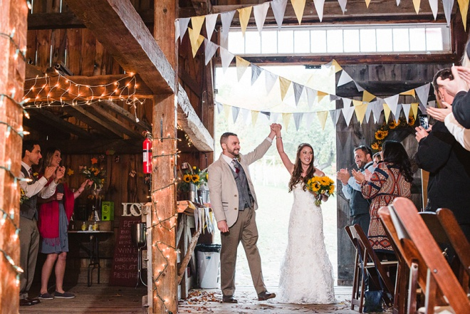 Love This Rustic Barn Wedding Reception Entrance!