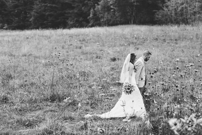 Love! Such a gorgeous wedding field photo.