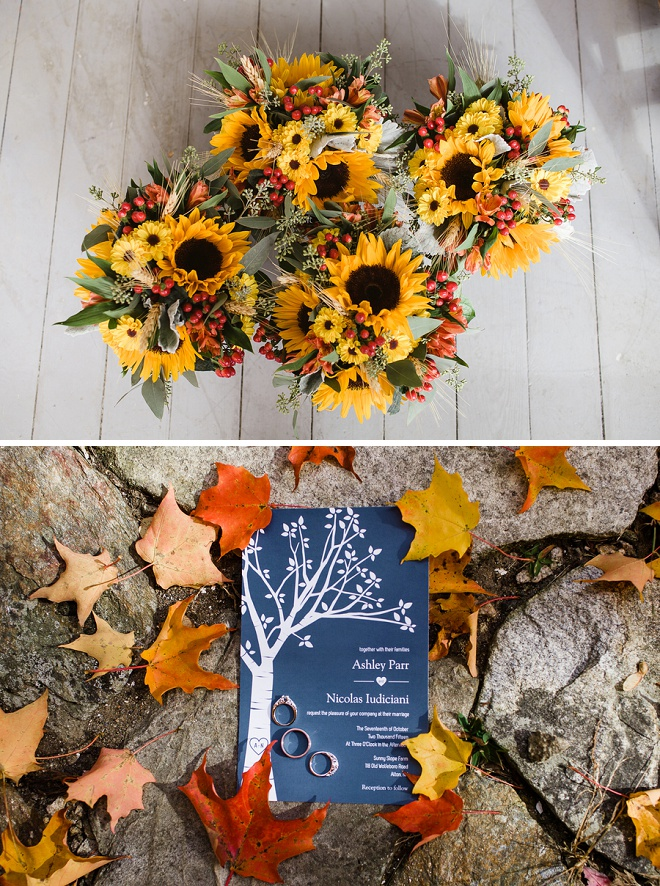 We Love This Sunflower and Apple Bouquet!