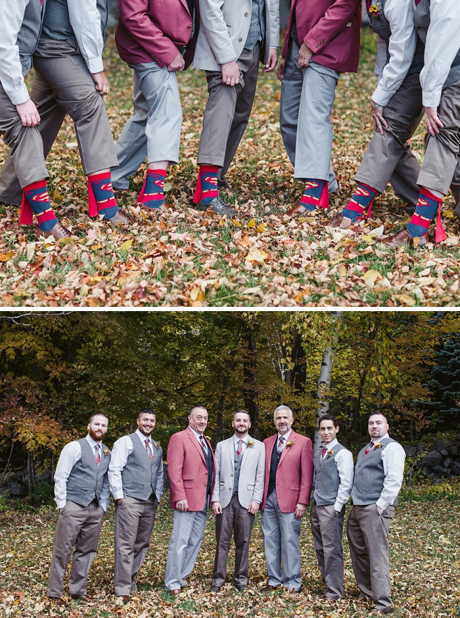 Groomsmen with Superman Socks!