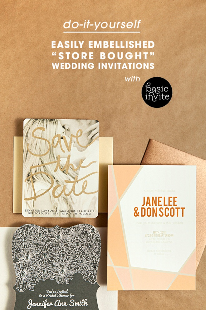 wedding invitations east london south africa%0A Easily Embellished Wedding Invitations With Basic Invite