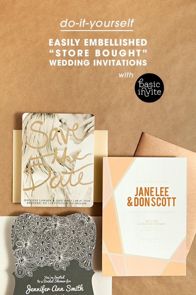 Easily Embellished Wedding Invitations With Basic Invite!