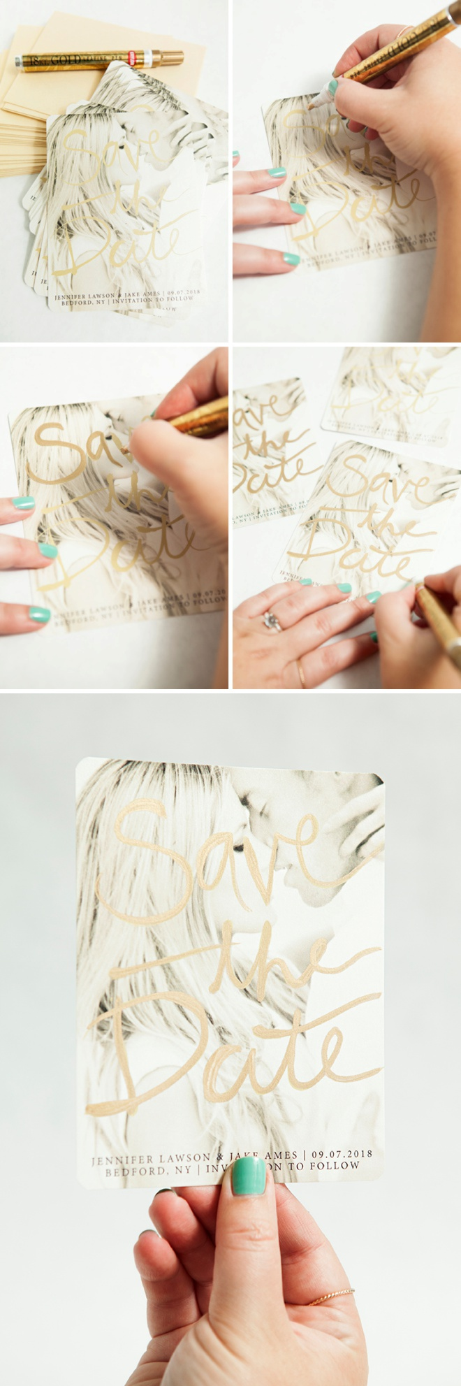 How to Add Gold to Your Wedding Decor