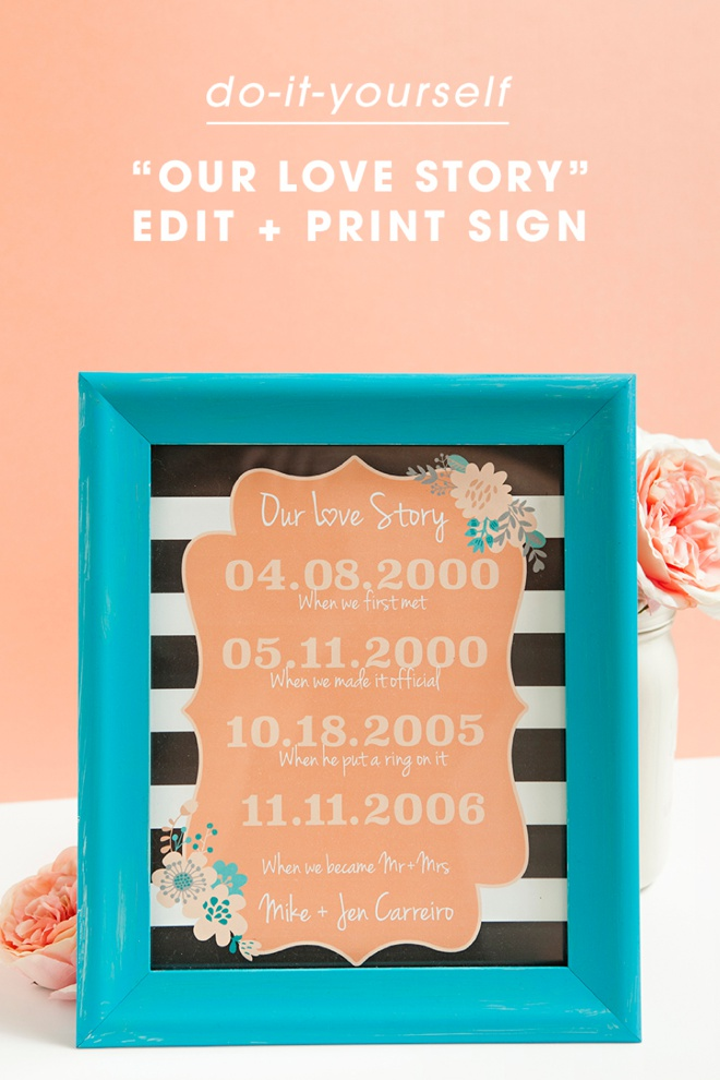 Adorable and free met engaged married sign printable download edit and print this adorable met engaged married sign for free solutioingenieria Image collections