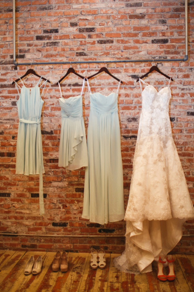 Wedding dresses.