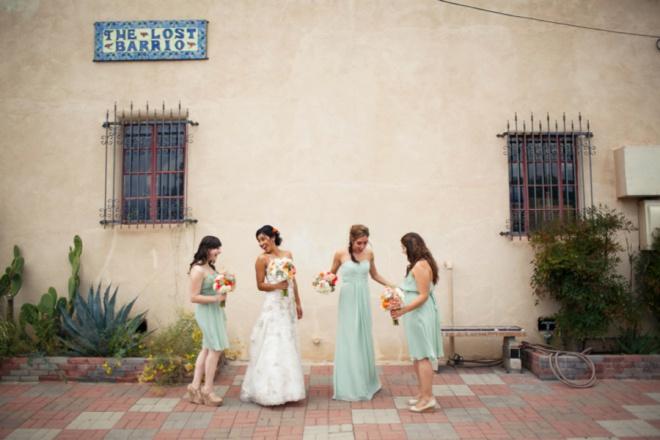 Fun filled mint coral tucson arizona diy wedding adorable mint coral diy wedding at the park avenue solutioingenieria Gallery