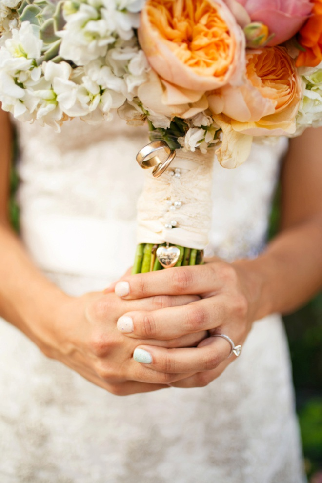 The brie carried her grandparents wedding rings with her!