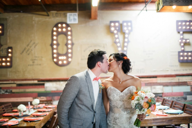 Playful mint + coral DIY wedding at the Park Avenue!