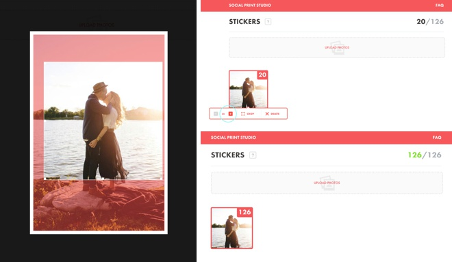 Order custom stickers from Social Print Studio