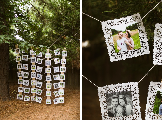 Bridal shower photo wall!