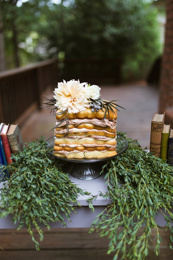 Darling naked cake for a boho bridal shower!