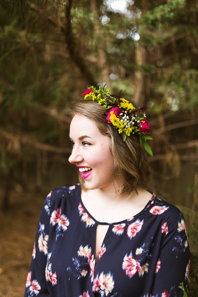 Adorable boho bridal shower with DIY flower crown bar!