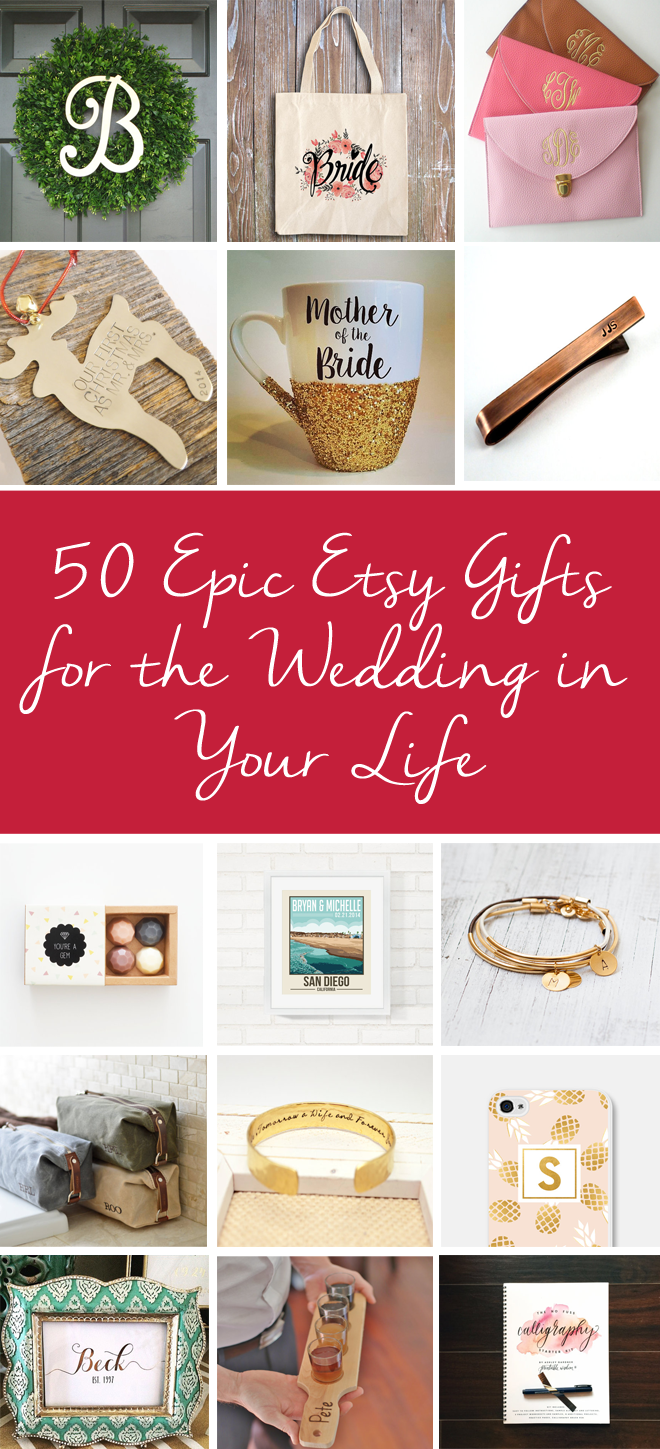 50 epic etsy christmas gifts for the wedding in your life