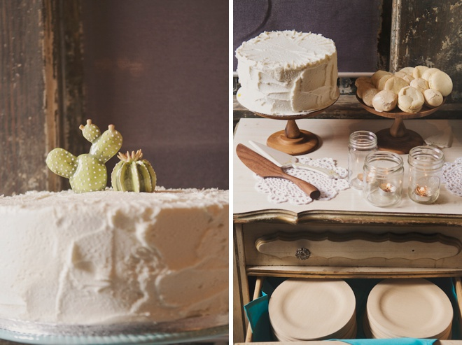 Handmade cactus cake topper!