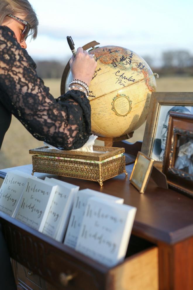 DIY globe guest book!