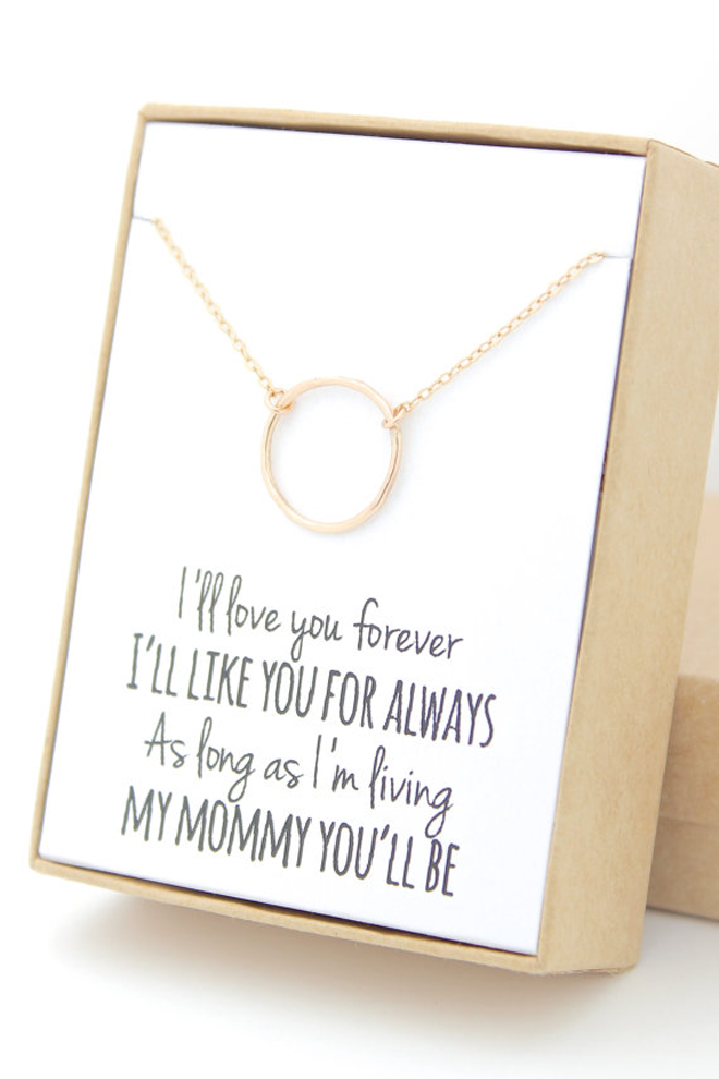 Darling Infinity Necklace for Mother of the Bride