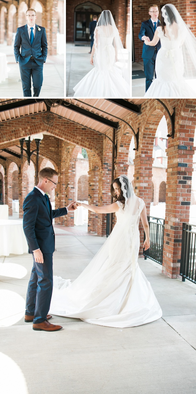 Beautiful wedding first look!