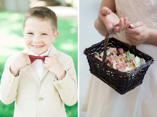 Adorable ring bearer and flower girl.