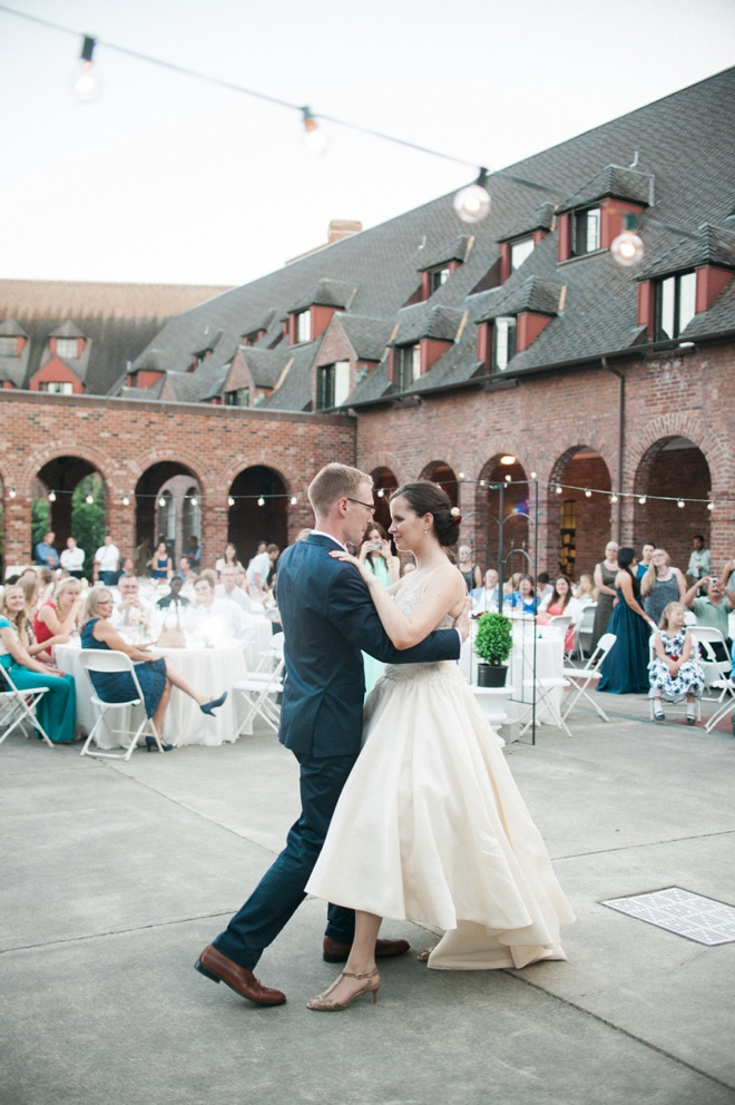 The beautiful first dance.