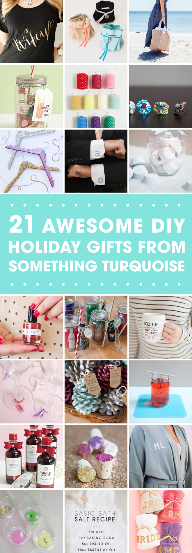 21 of our most awesome DIY wedding gifts that make fabulous HOLIDAY gifts!