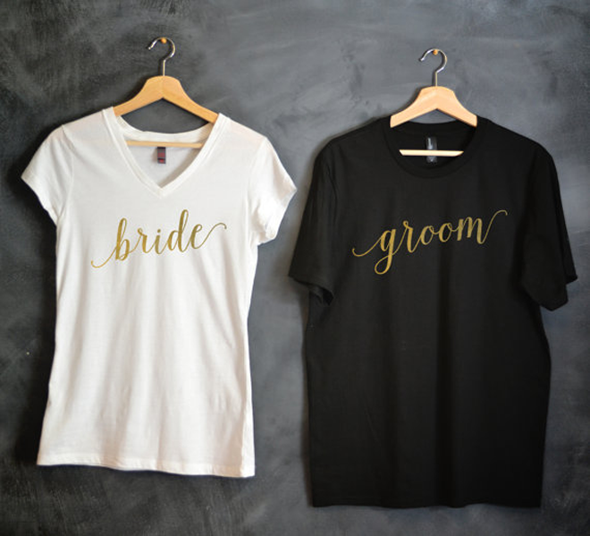 Darling Bride and Groom-T Shirts