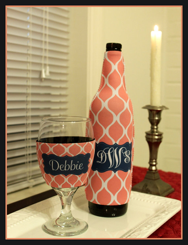 Bridesmaid Wine Koozie Gift