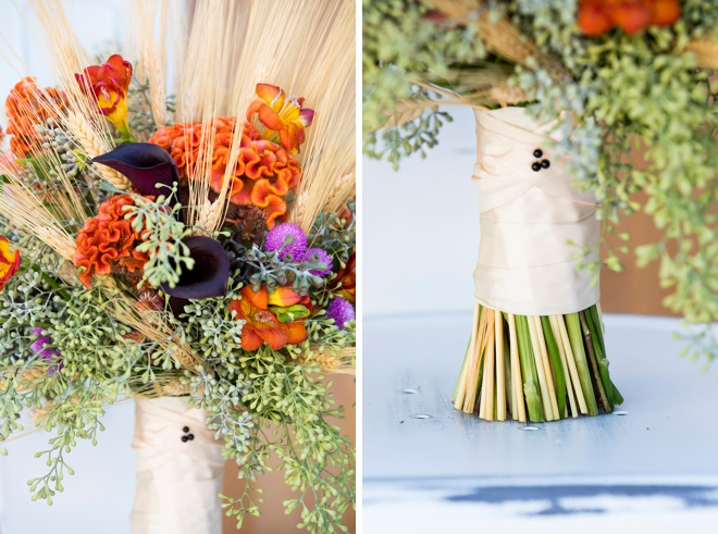 Beautiful fall bridal Bouquet Blueprint, learn how we made it!