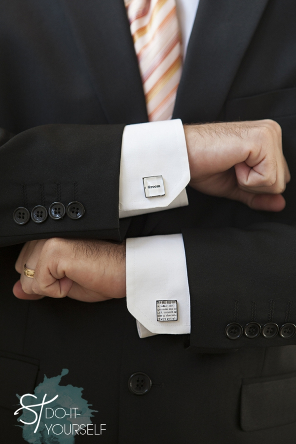 DIY personalized cufflinks by Something Turquoise!