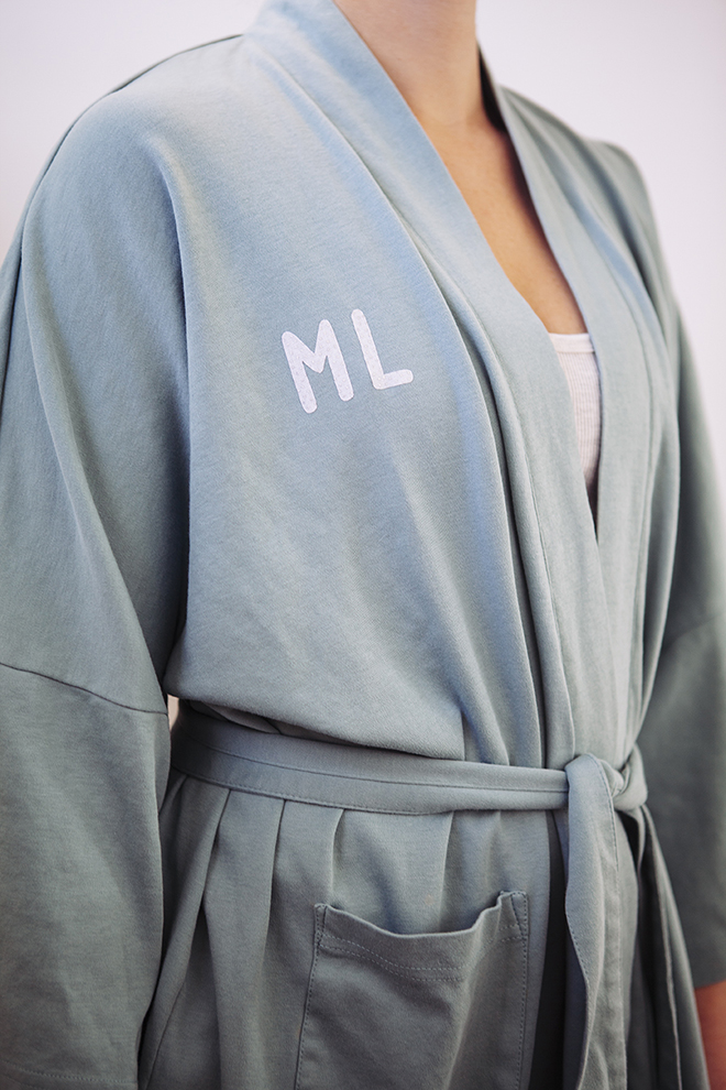 DIY personalized robe gift from Something Turquoise